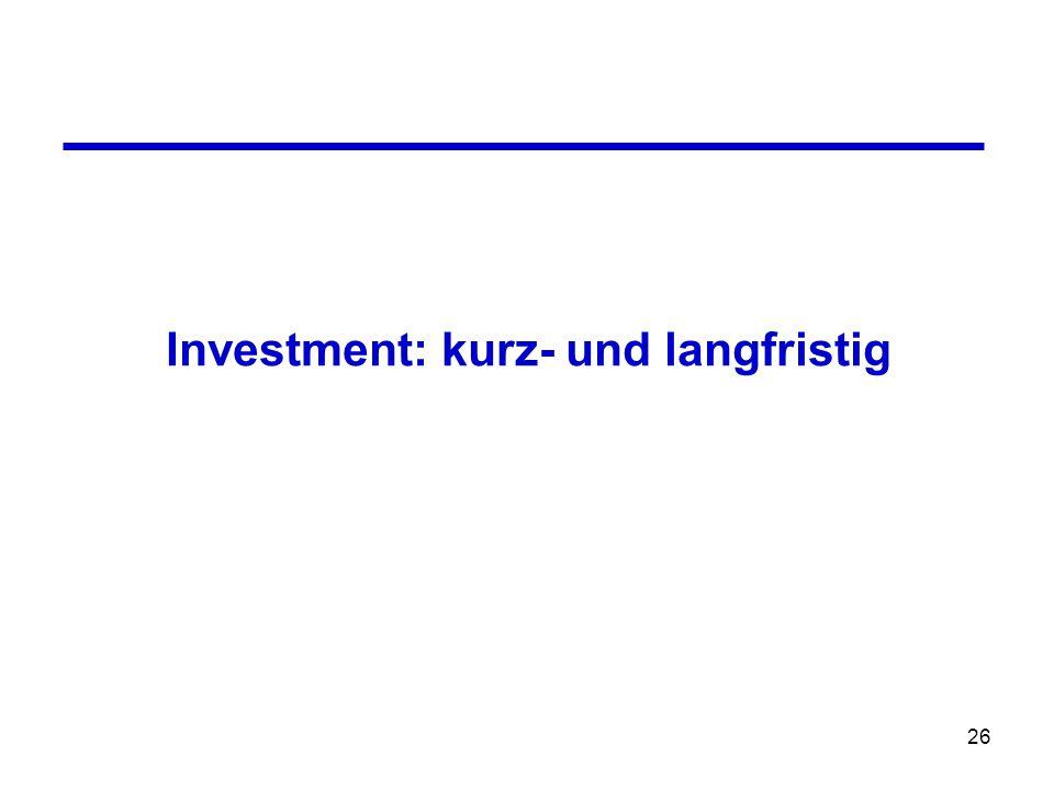26 Investment: kurz- und langfristig