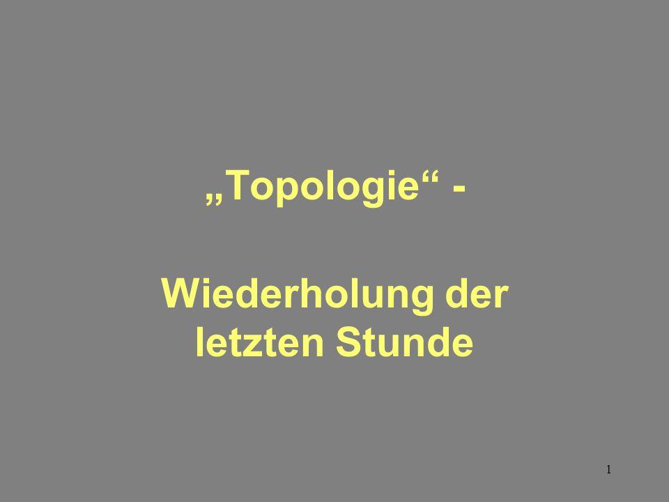 """1 """"Topologie - Wiederholung der letzten Stunde"""