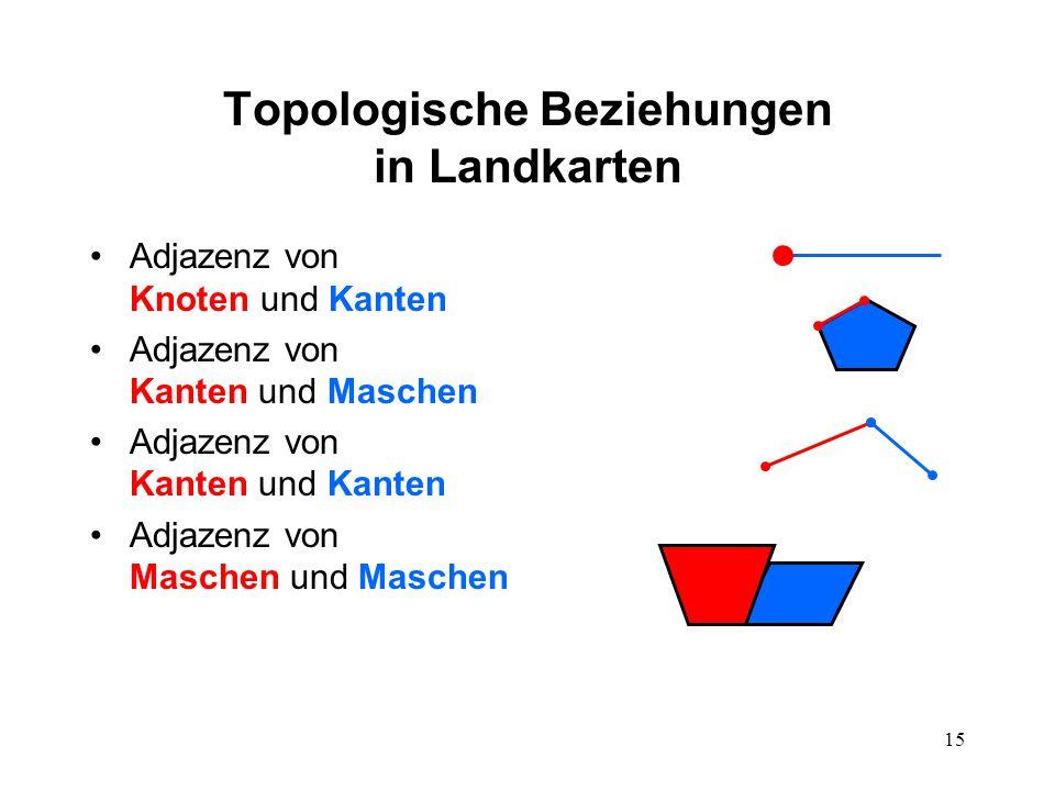 14 Einschränkungen Um die Mathematik zu vereinfachen, sind in Landkarten folgende Fälle zunächst nicht vorgesehen: Inseln (z.B.