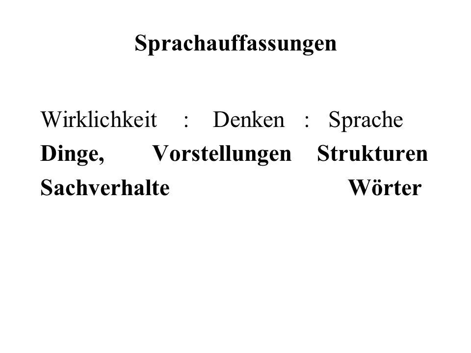 Universalsprache: Descartes/ Leibniz Ziel, Descartes: Ordnung für alle Vorstellungen, die dem menschlichen Geist zukommen können