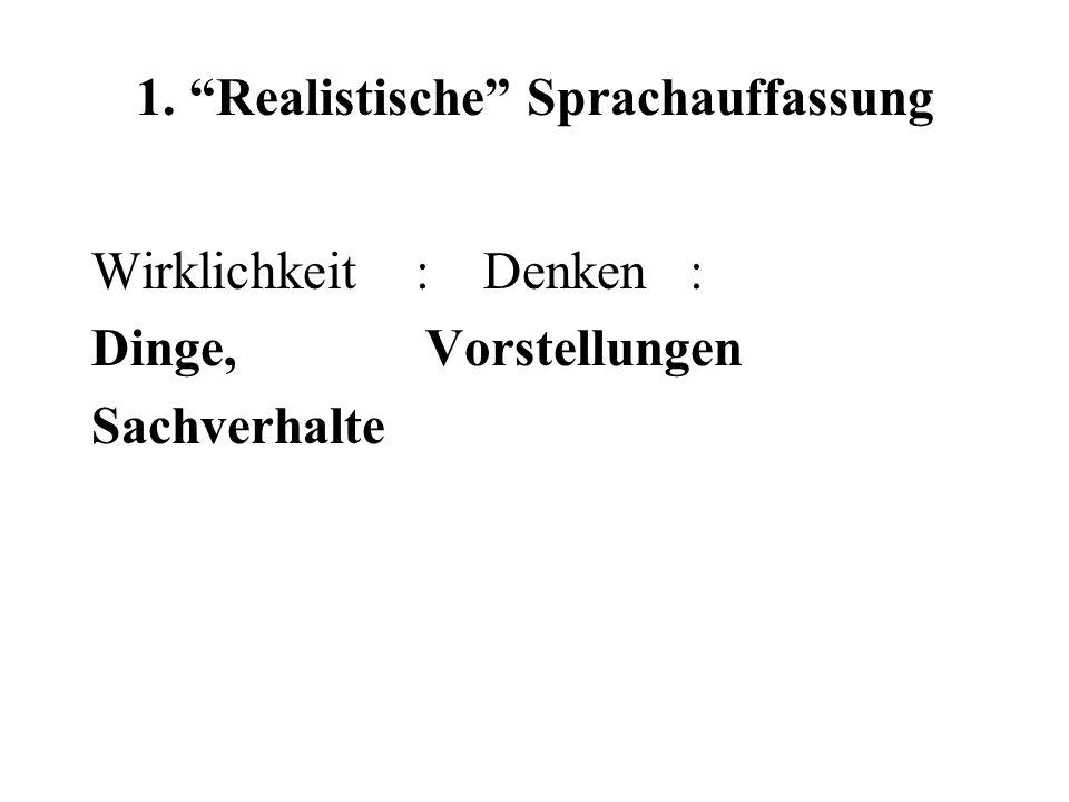 Universalsprache: Kritik an natürlichen Sprachen a)sus 'Sau' b) porcus 'Schwein' c)verres 'zahmer Eber' d) aper 'wilder Eber' b) ver 'Frühling' verres 'zahmer Eber' verro 'ich kehre' vervex 'Hammel'