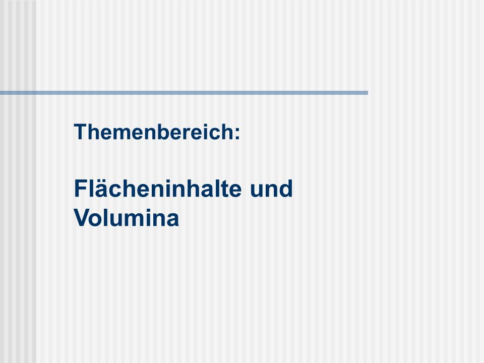 Lehrplan Realschule Kl.9 M 9.10 Raumgeometrie (ca.