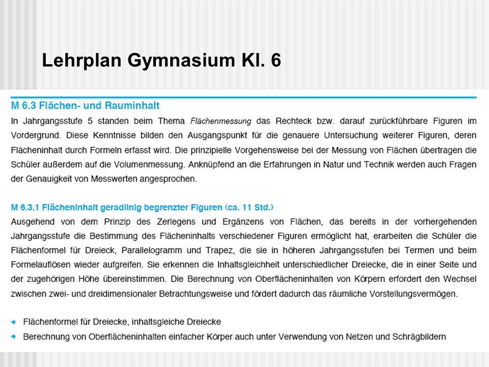 Lehrplan Gymnasium Kl. 6