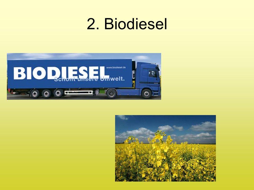 Biodiesel ist ein Gemisch von Fettsäuremethylestern (bei Herstellung aus Raps: Rapsölmethylester (RME)) Rapsöl: besteht aus Triglyceriden, Gewinnung aus Rapssamen 2.
