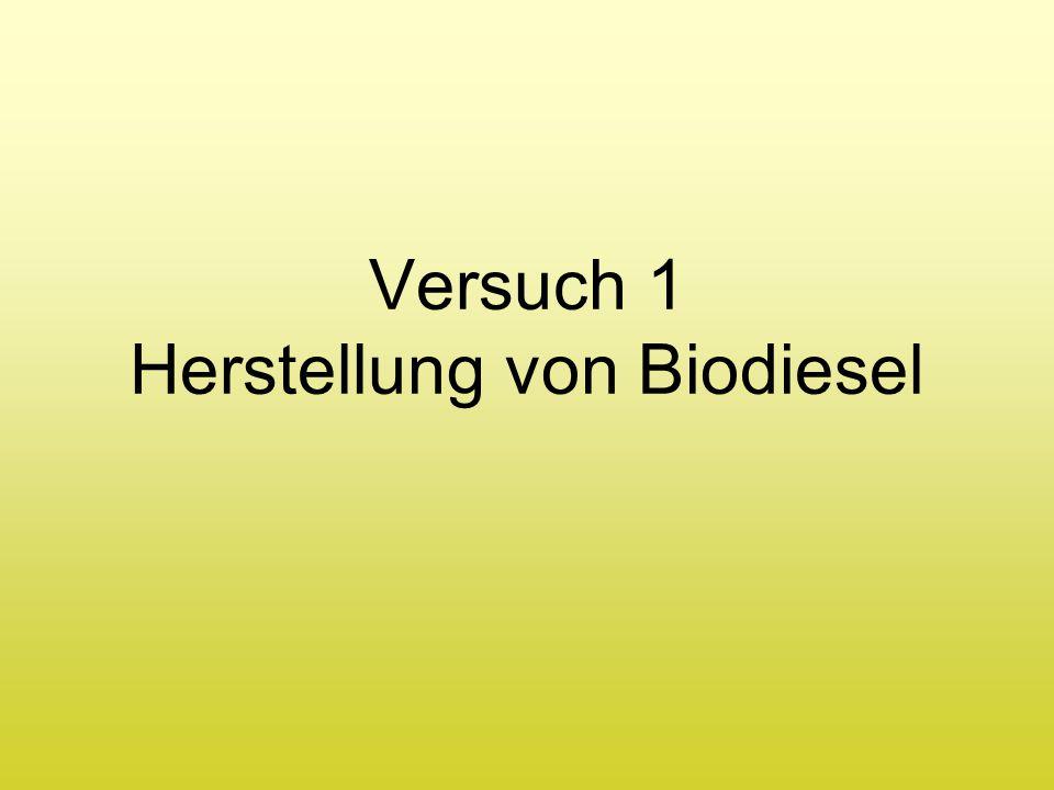 Versuch 1 Herstellung von Biodiesel
