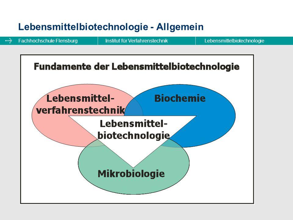 Fachhochschule FlensburgInstitut für VerfahrenstechnikLebensmittelbiotechnologie Lebensmittelbiotechnologie - Allgemein Was ist Lebensmittelbiotechnol