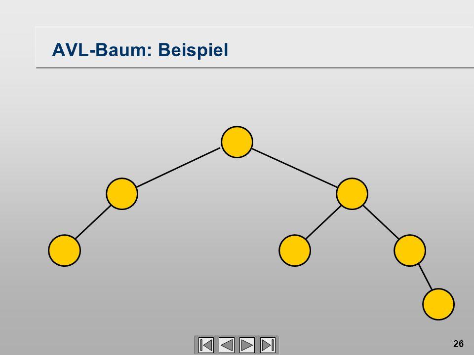 26 AVL-Baum: Beispiel
