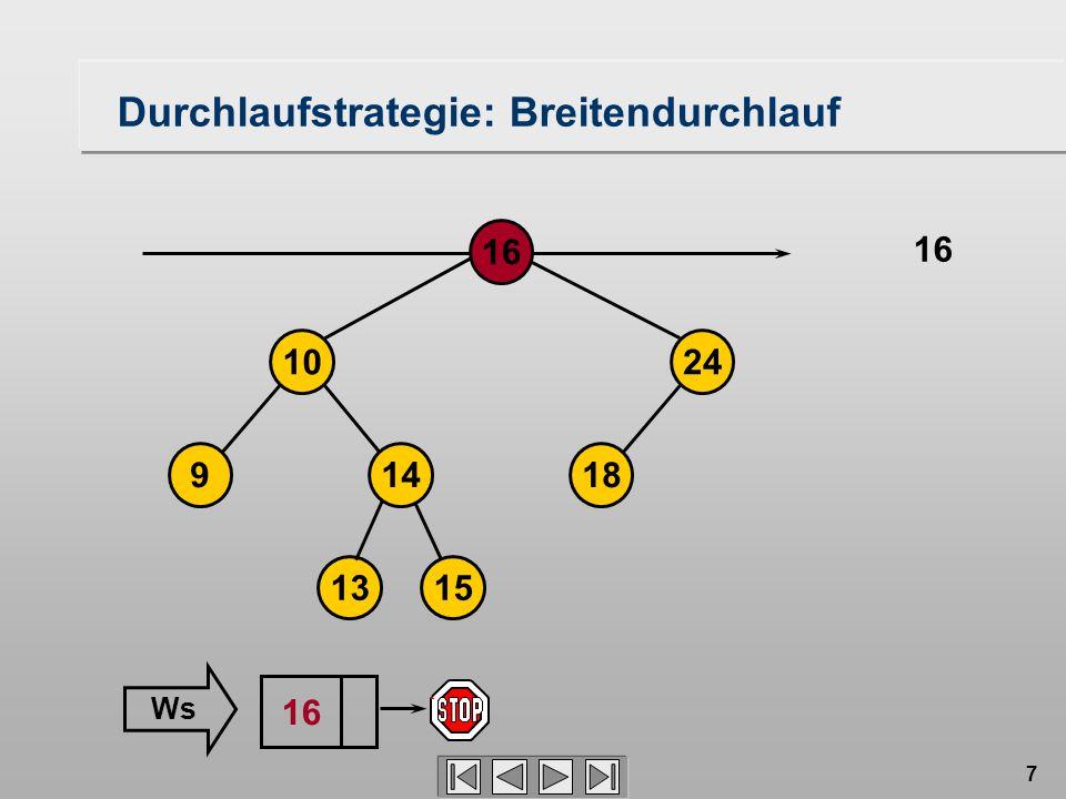7 Durchlaufstrategie: Breitendurchlauf 18149 1024 16 1315 16 Ws