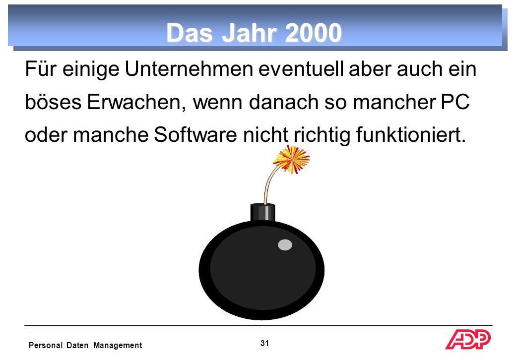 Personal Daten Management 30 Das Jahr 2000