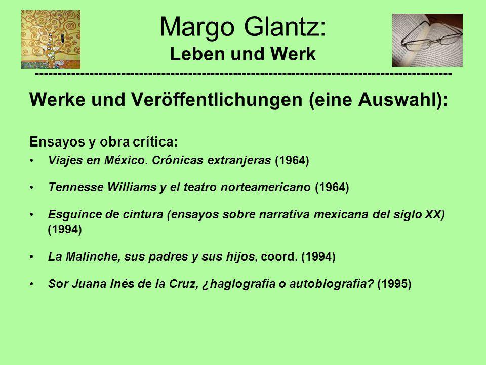 Werke und Veröffentlichungen (eine Auswahl): Ensayos y obra crítica: Viajes en México. Crónicas extranjeras (1964) Tennesse Williams y el teatro norte