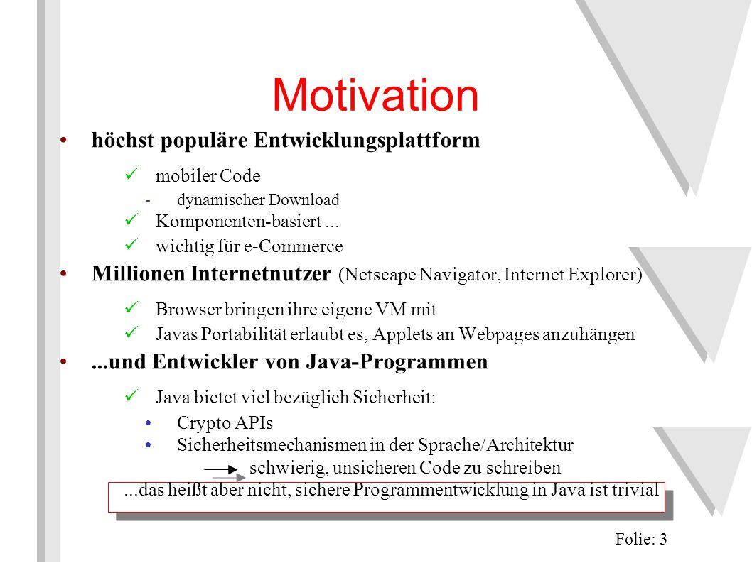 Motivation höchst populäre Entwicklungsplattform mobiler Code -dynamischer Download Komponenten-basiert...