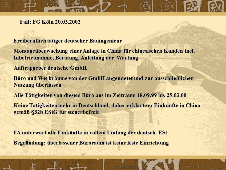 Freiberuflich tätiger deutscher Bauingenieur Montageüberwachung einer Anlage in China für chinesischen Kunden incl. Inbetriebnahme, Beratung, Anleitun