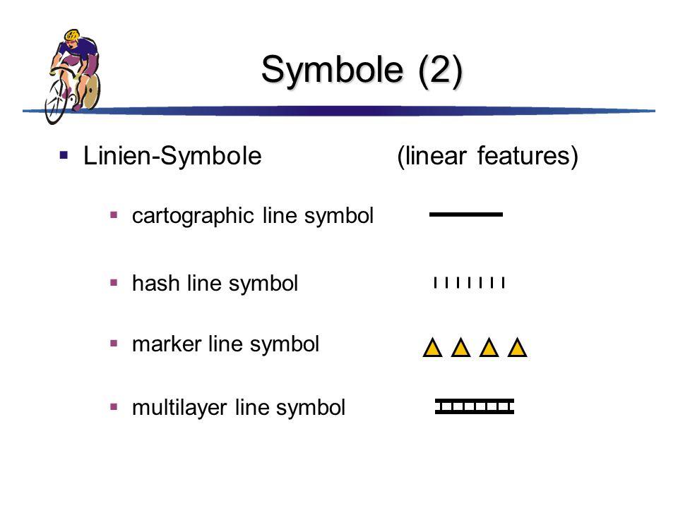 Symbole (2)  Linien-Symbole(linear features)  cartographic line symbol  hash line symbol  marker line symbol  multilayer line symbol