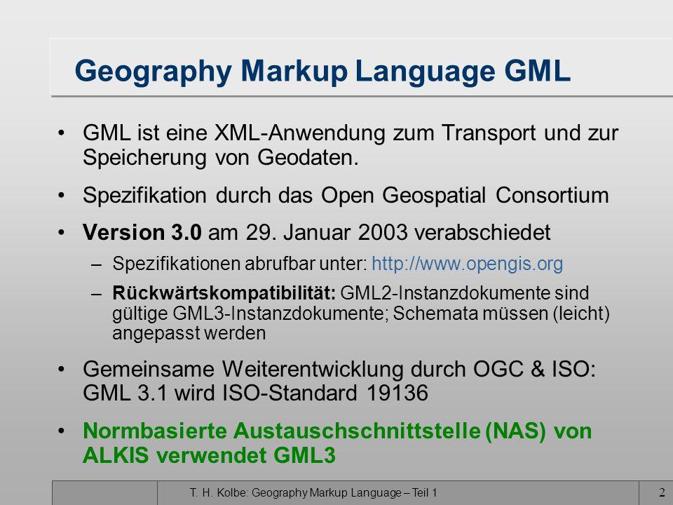Institut für Kartographie und Geoinformation, Uni Bonn Lehrstuhl für Geoinformation, Prof. Dr. Plümer, Dr. Gröger, Dr. Kolbe GIS III – Vorlesung 15 Ge