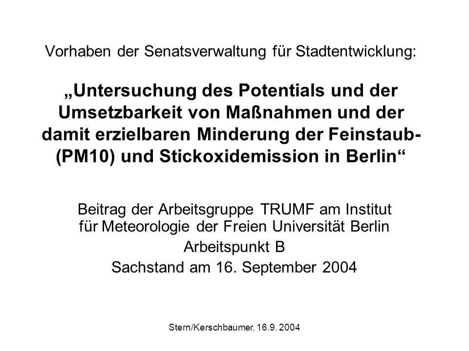 Stern/Kerschbaumer, 16.9. 2004 Berechnete NO2-Vorbelastung Berlin 2002