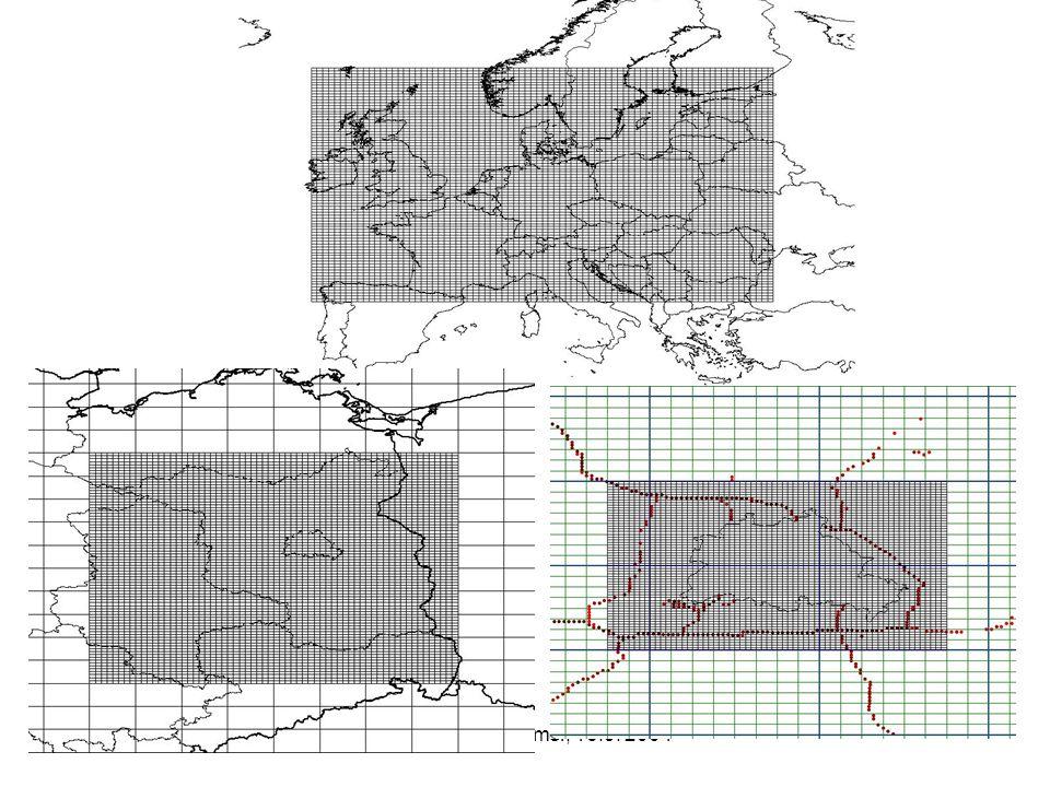 NO2 Jahresmittelwert (µg/m3) 2002: REM-CALGRID RUN, 0.5°x0.25°-grid