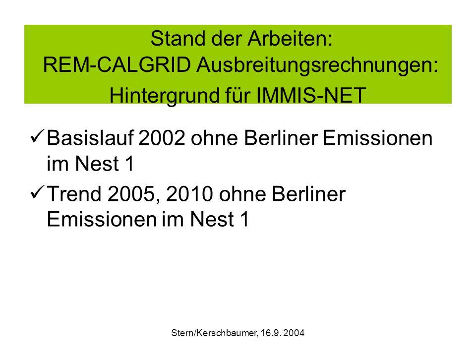 Stern/Kerschbaumer, 16.9. 2004 RCG-Szenario : Trend 2005 – Basis 2002 NO2