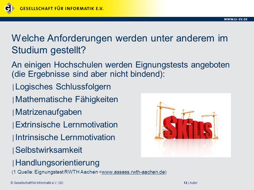 12 | Autor© Gesellschaft für Informatik e.V.