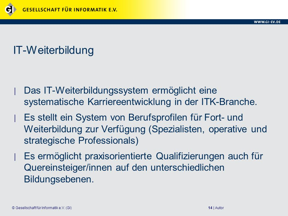 14 | Autor© Gesellschaft für Informatik e.V.
