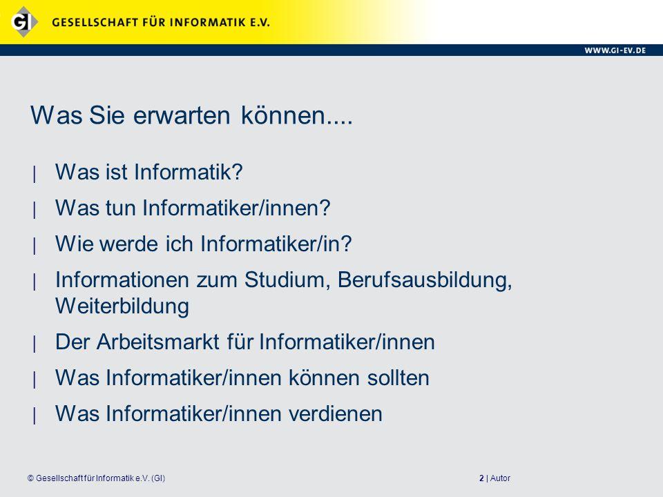 13 | Autor© Gesellschaft für Informatik e.V.