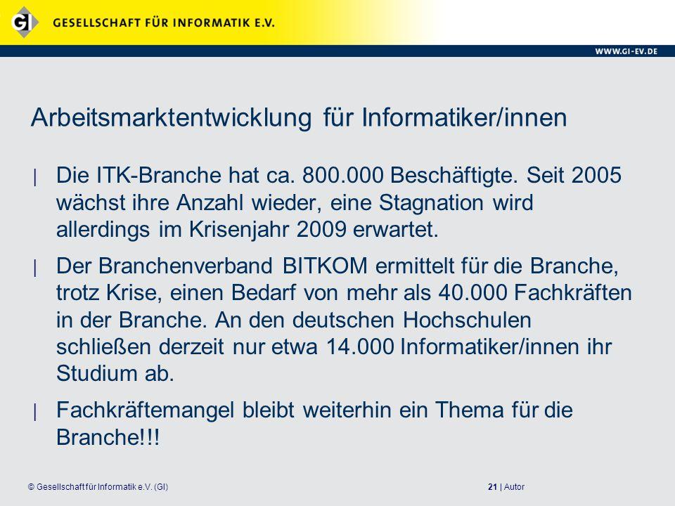 21 | Autor© Gesellschaft für Informatik e.V.