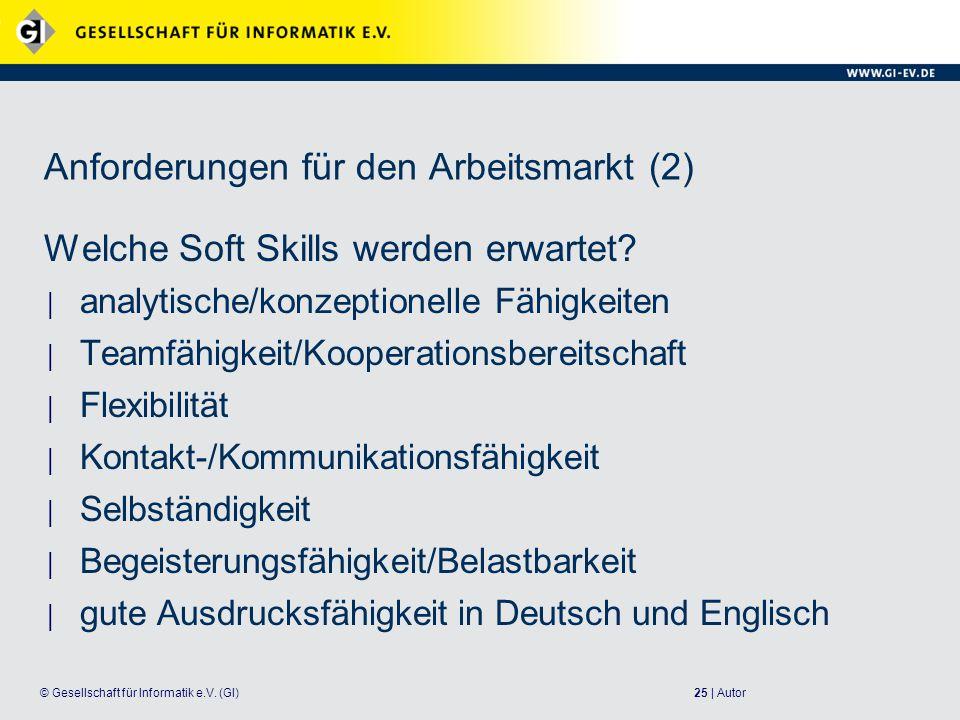 25 | Autor© Gesellschaft für Informatik e.V.