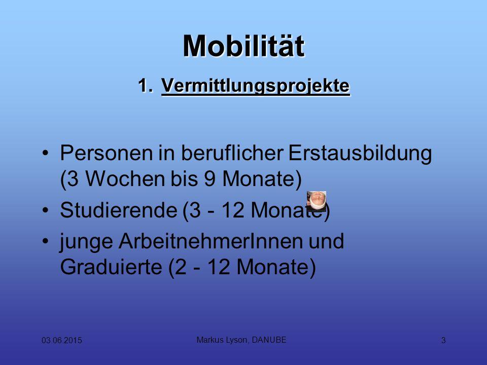 03.06.2015 Markus Lyson, DANUBE 3 Mobilität 1.