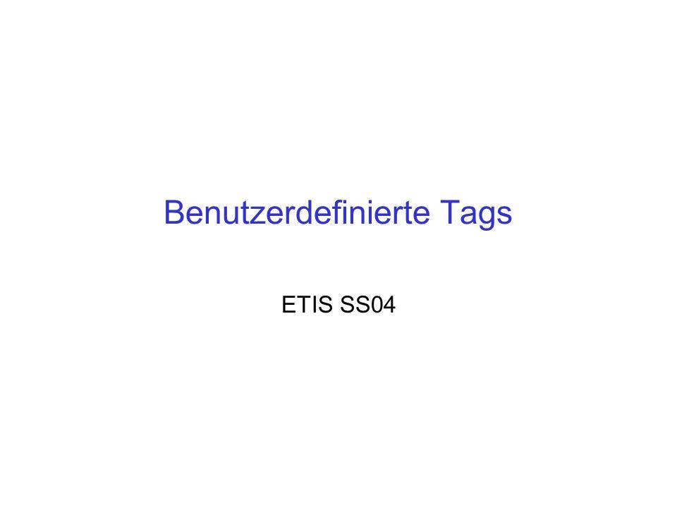 ETIS SS04Tags 12 Literatur Turau, V., Saleck, K., Lenz, C., Web-basierte Anwendungen entwickeln mit JSP2, dpunkt.verlag, Heidelberg, 2004 Wille, S., Go To Java Server Pages, Addison- Wesley, München, 2001 http://www.kinabaloo.com/jsp2.html