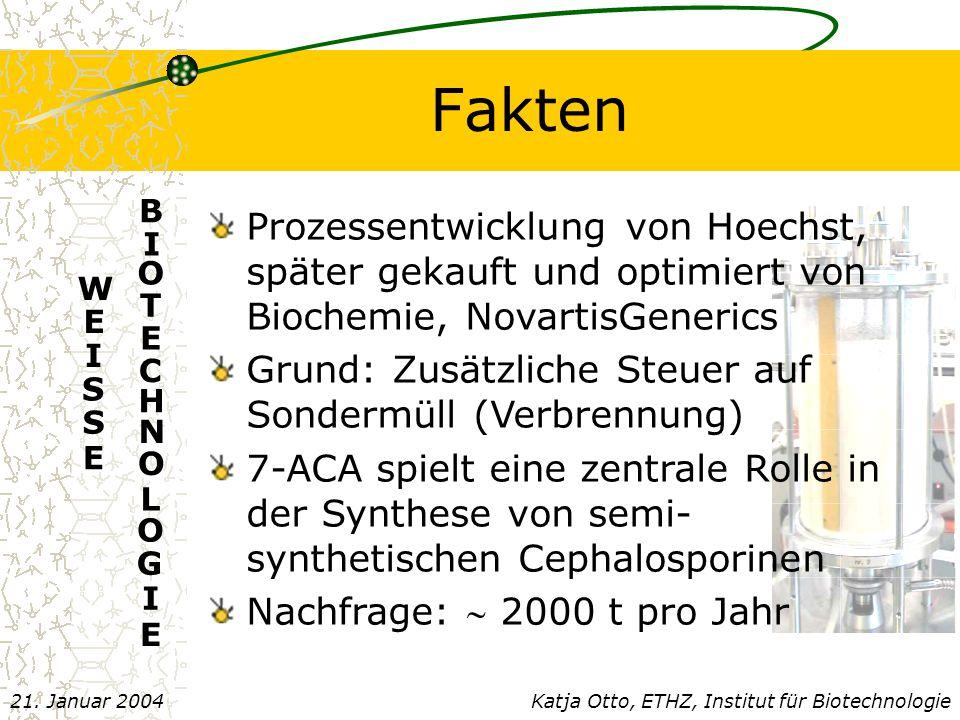 Fakten Katja Otto, ETHZ, Institut für Biotechnologie21.