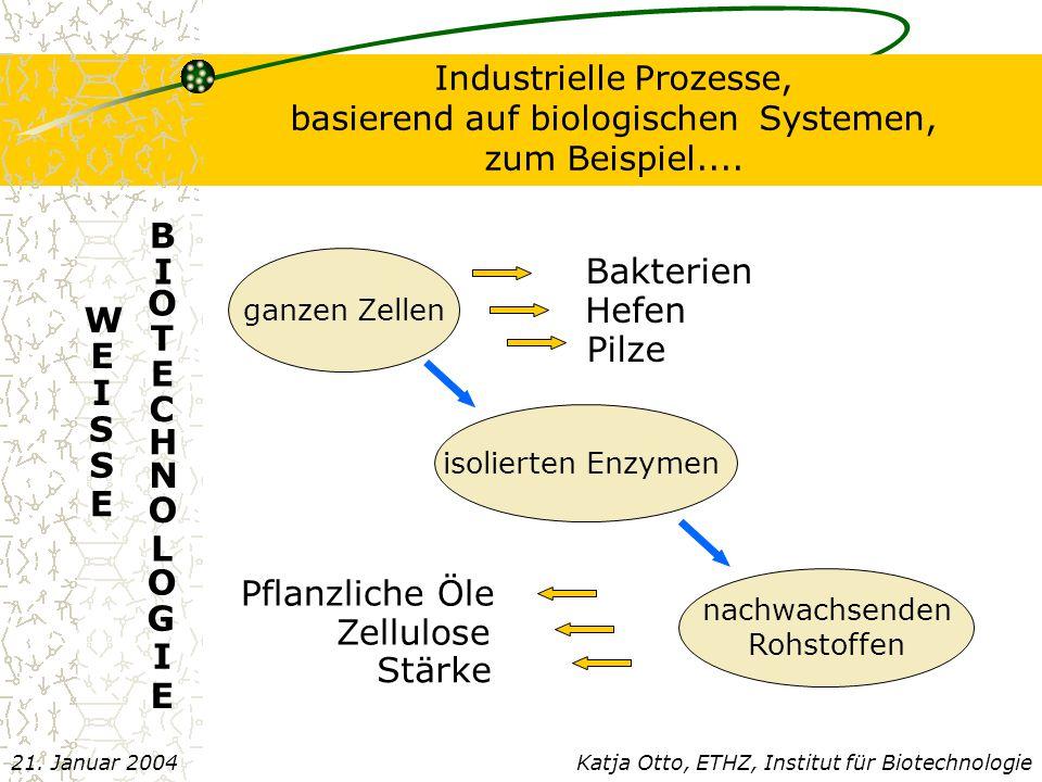 Parameter für biotechnologische Prozesse B.Hauer, BASF Produktionsvol.