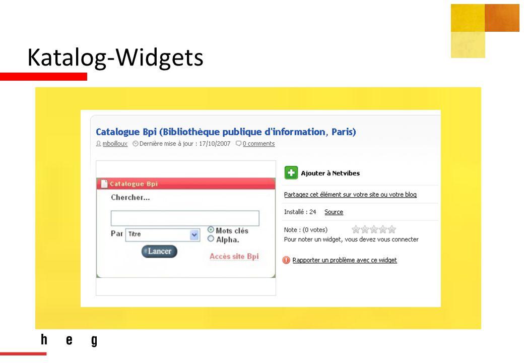Katalog-Widgets