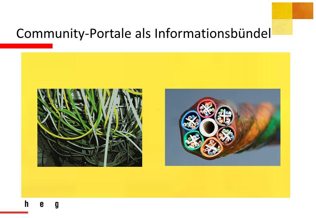Community-Portale als Informationsbündel