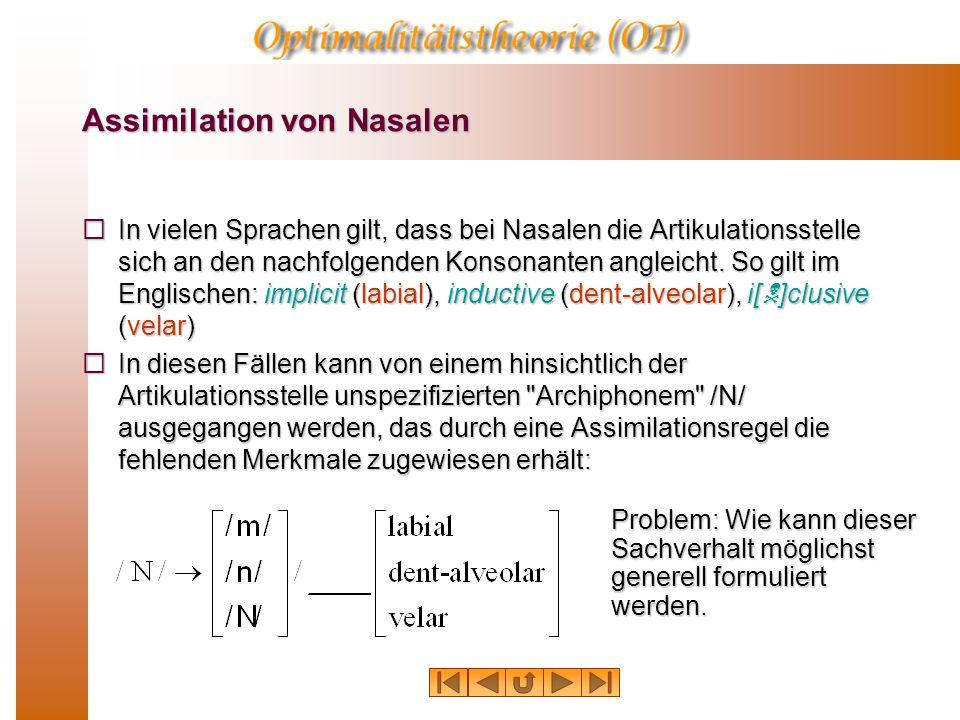 Natürliche Klassen Jede natürliche Klasse kann durch weniger Information charakterisiert werden, als ein Segment dieser Klasse. Werden Klassen durch M