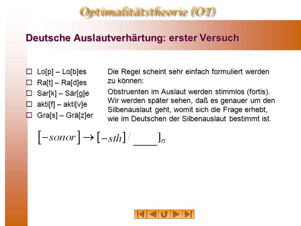 Regelanordnung R1 Tilgung: R2 Lenisierung: mear[x]+esInput: Output: meares R1 Tilgung: R2 Lenisierung: mear[x]+es Output: *mearges mear[Ä]+es Da in ei