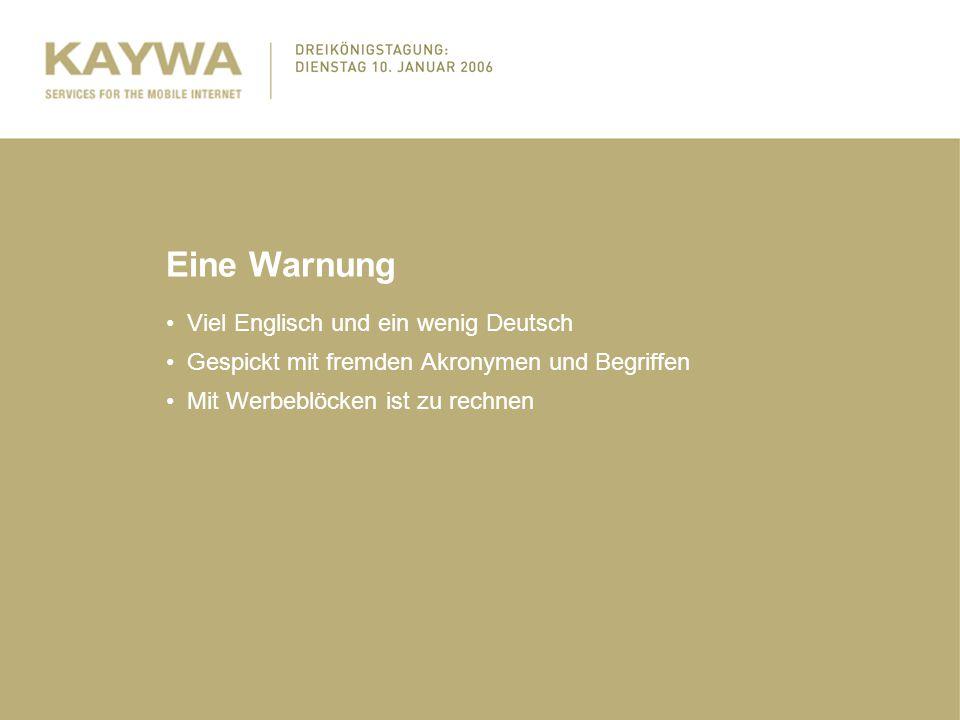 Eine Warnung Viel Englisch und ein wenig Deutsch Gespickt mit fremden Akronymen und Begriffen Mit Werbeblöcken ist zu rechnen