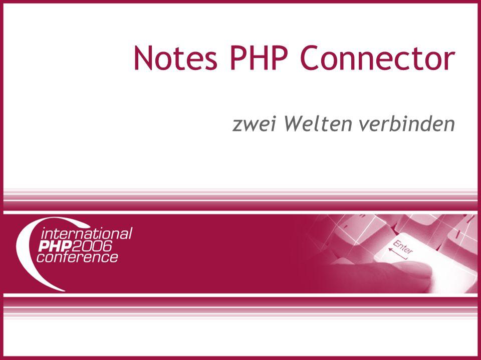 Notes PHP Connector zwei Welten verbinden