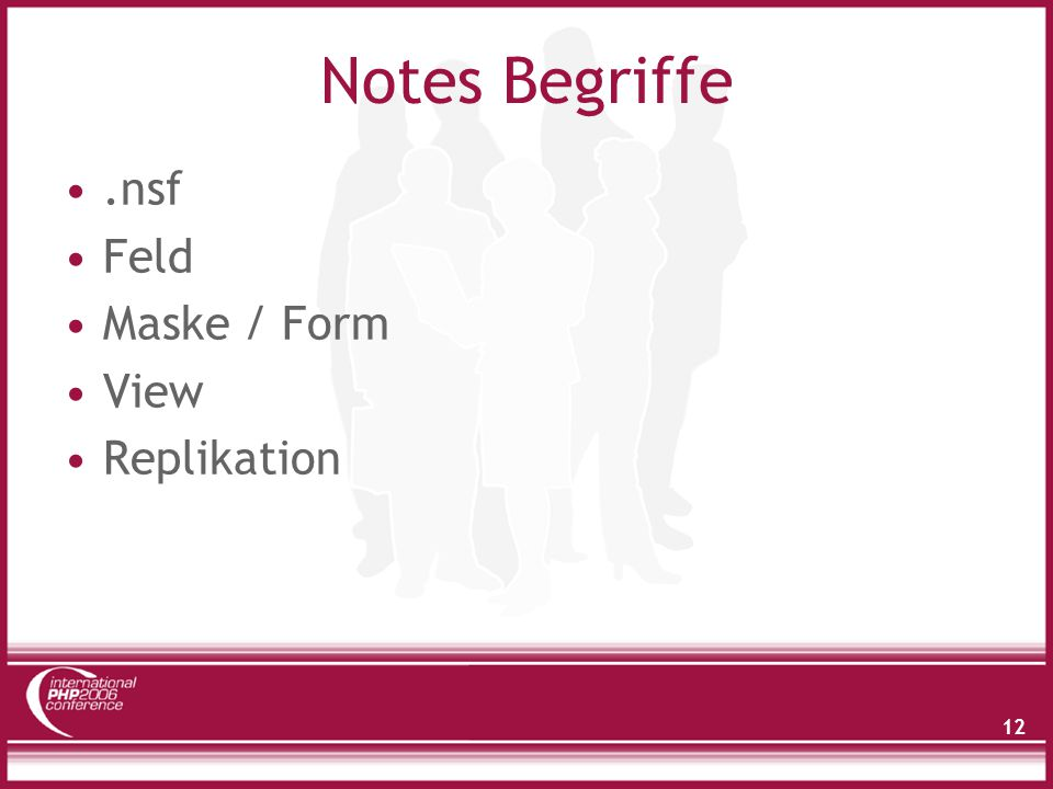 12 Notes Begriffe.nsf Feld Maske / Form View Replikation