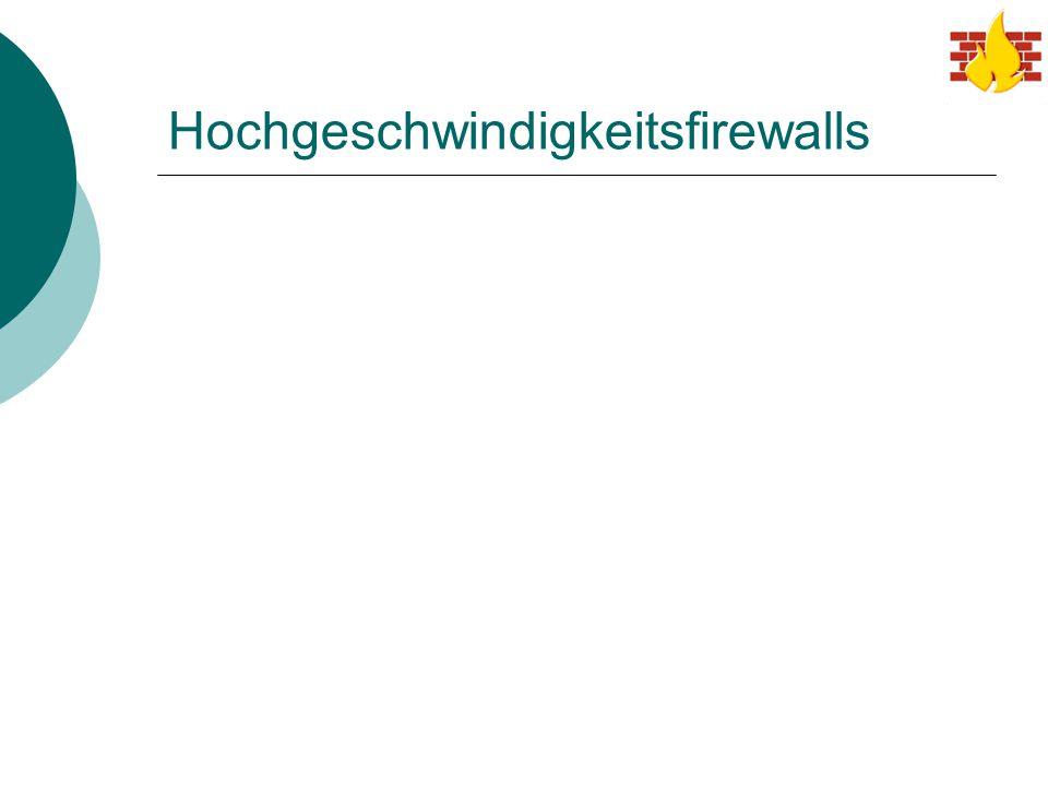 Hochgeschwindigkeitsfirewalls
