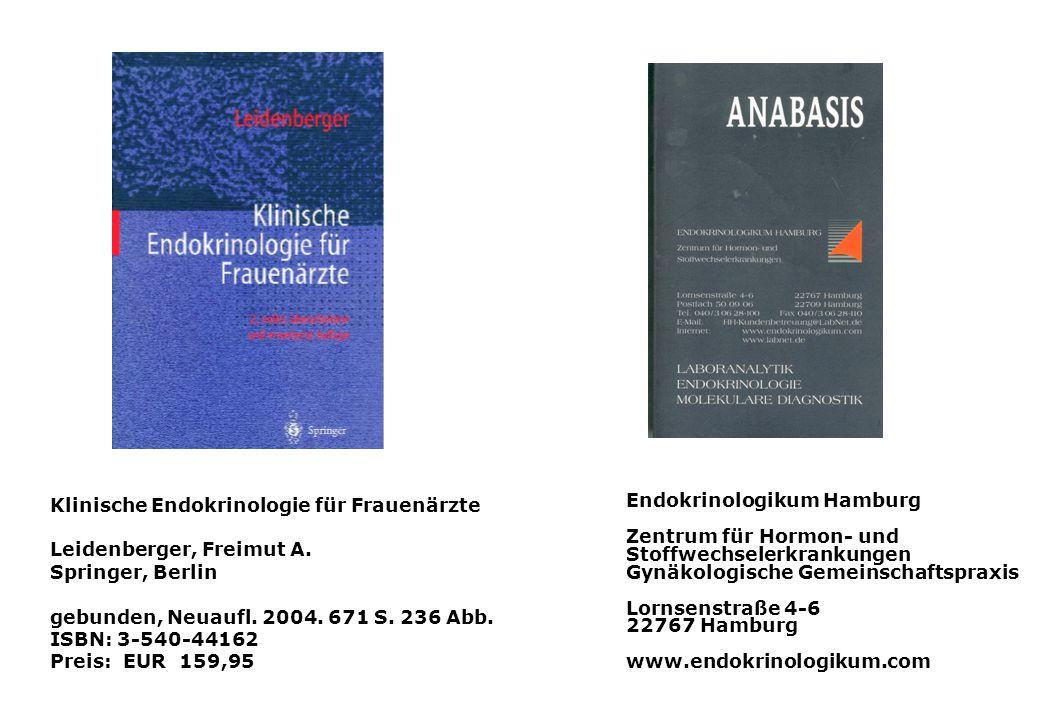 Endokrinologikum Hamburg Zentrum für Hormon- und Stoffwechselerkrankungen Gynäkologische Gemeinschaftspraxis Lornsenstraße 4-6 22767 Hamburg www.endok