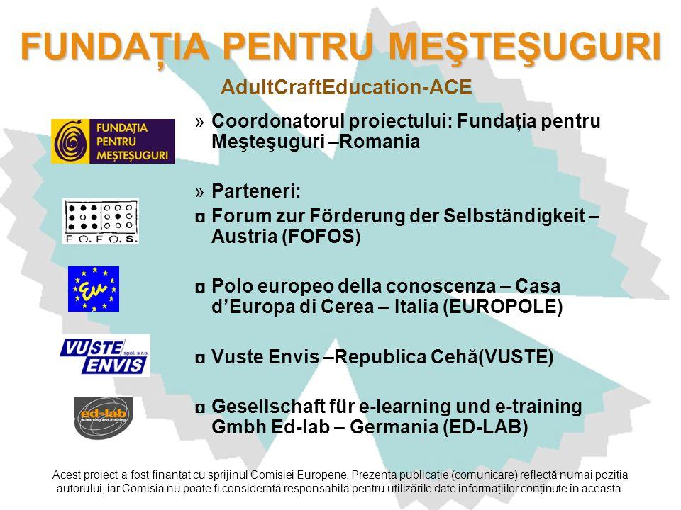 Acest proiect a fost finanţat cu sprijinul Comisiei Europene. Prezenta publicaţie (comunicare) reflectă numai poziţia autorului, iar Comisia nu poate