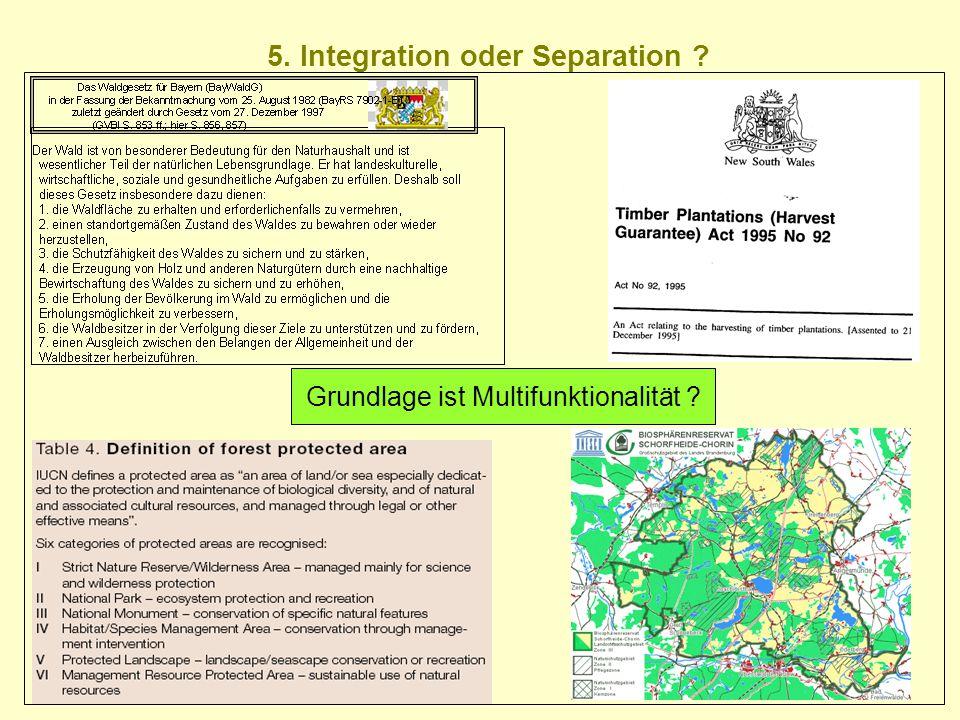 5. Integration oder Separation ? Grundlage ist Multifunktionalität ?