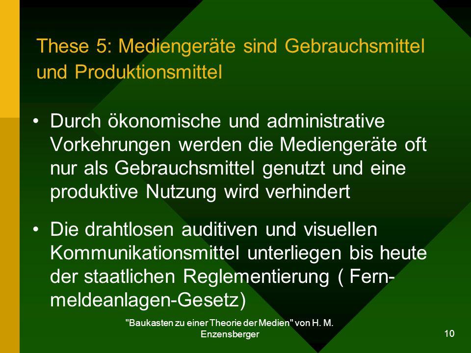 Baukasten zu einer Theorie der Medien von H.M.