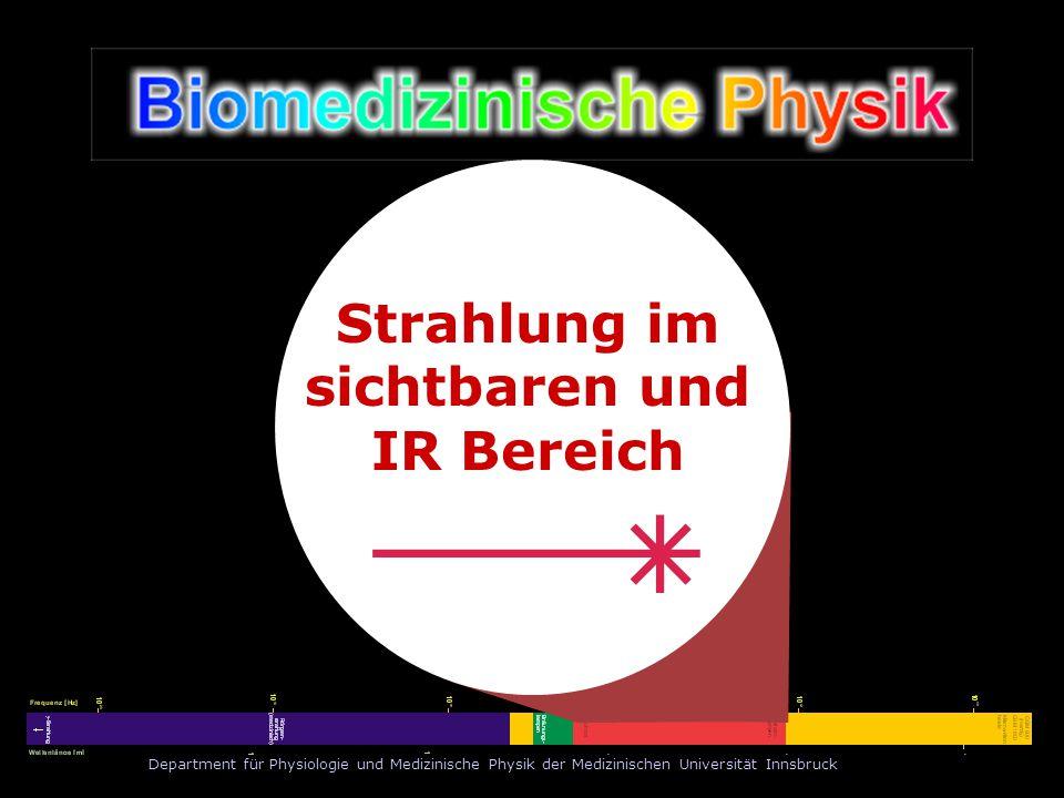 Department für Physiologie und Medizinische Physik der Medizinischen Universität Innsbruck Arbeitsgruppe Medizinische Laseranwendungen Leiter: o.Univ.-Prof.