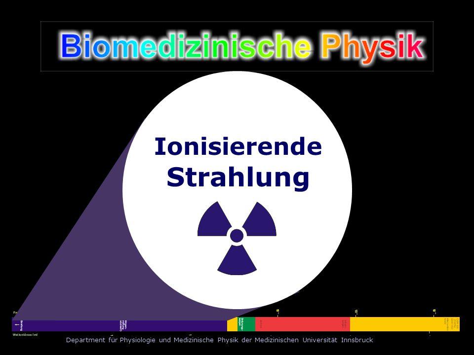 Department für Physiologie und Medizinische Physik der Medizinischen Universität Innsbruck Ionisierende Strahlung