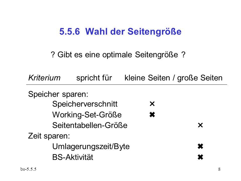 bs-5.5.58 5.5.6 Wahl der Seitengröße . Gibt es eine optimale Seitengröße .