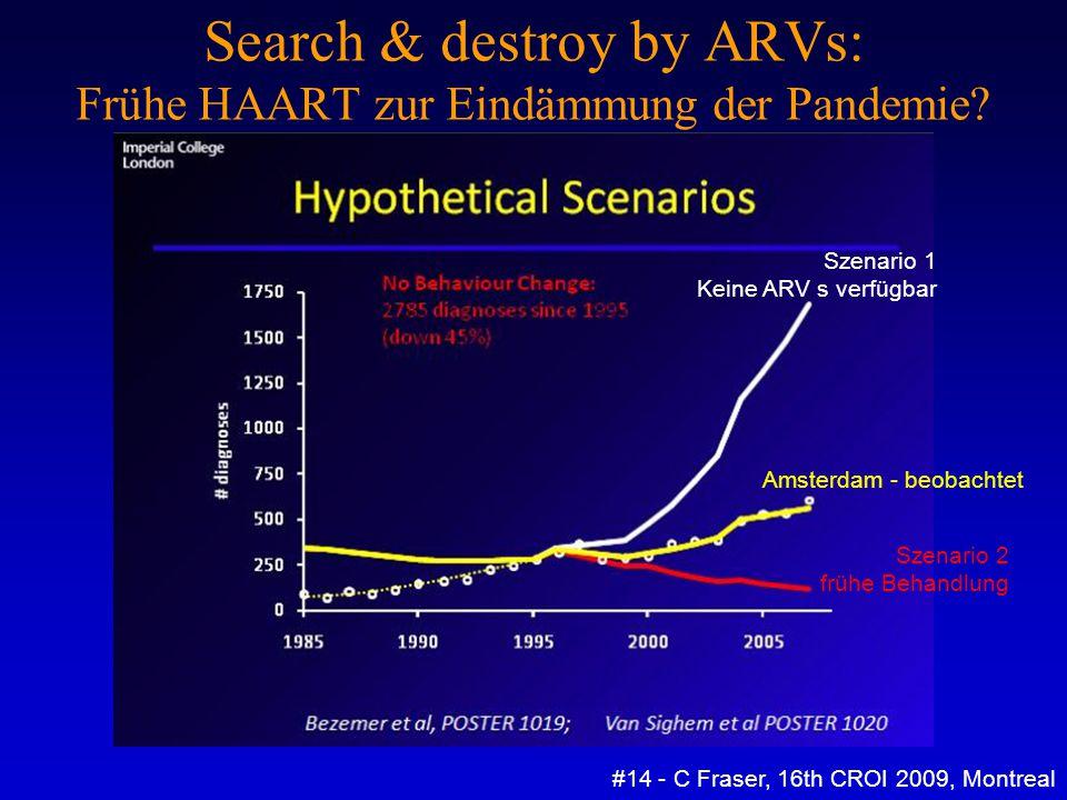 Search & destroy by ARVs: Frühe HAART zur Eindämmung der Pandemie? #14 - C Fraser, 16th CROI 2009, Montreal Amsterdam - beobachtet Szenario 1 Keine AR