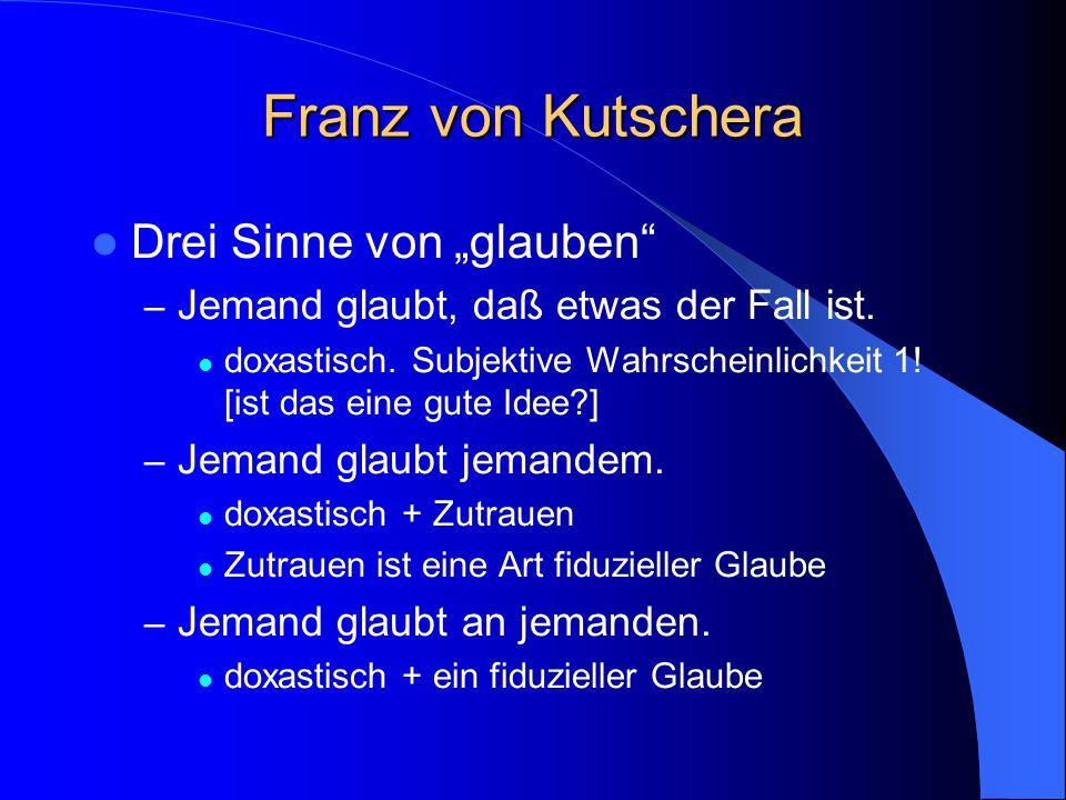 Zur nächsten Sitzung studieren Pascal Stich Schlesinger Hacking Swinburne (siehe Internetseite)