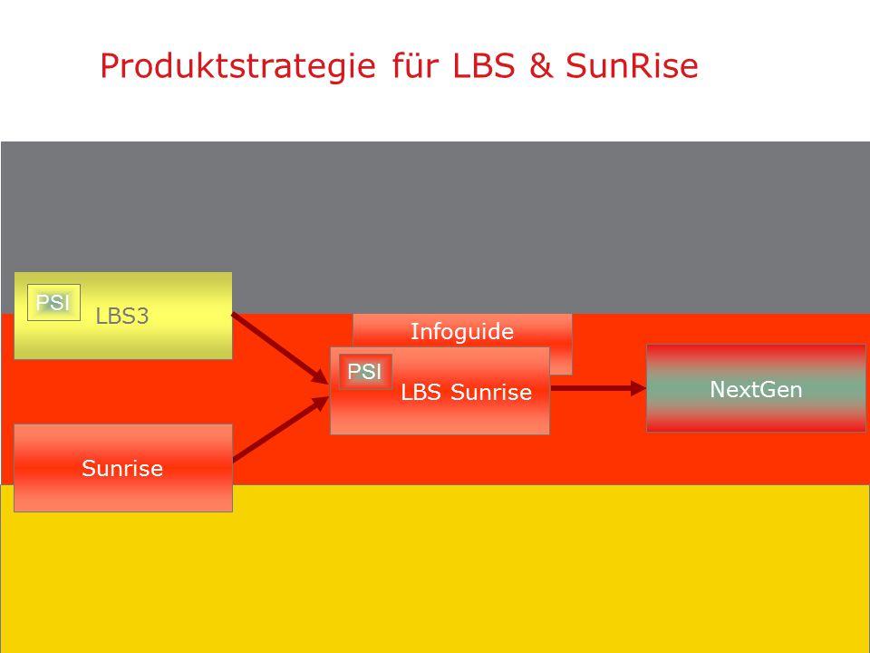4 Produktstrategie für LBS & SunRise Integration of PSI in SunRise: Version V3.7  PSI als Suchmaschine für LBS/SunRise  InfoGuide für den OPAC-Nutzer mit social services (RSS, reviews, recommendersystem,...