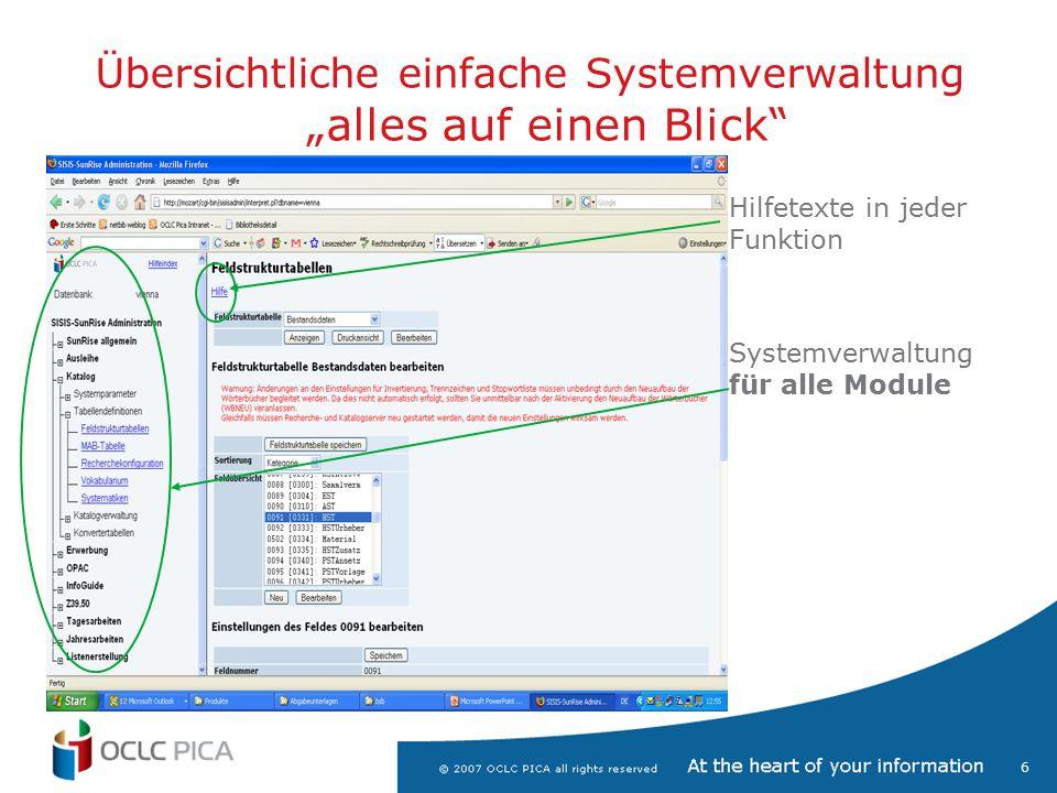 7 LBS/SunRise Systemverwaltung