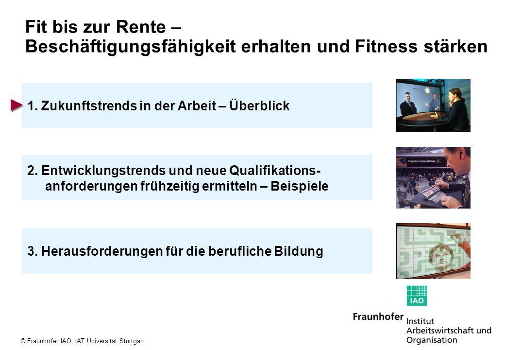 © Fraunhofer IAO, IAT Universität Stuttgart Neun Mega-Trends der Arbeit 1.